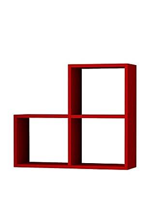Matte Maison  Regalbrett 3Cubes rot