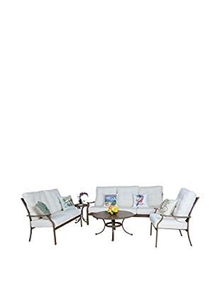 Panama Jack Island Breeze Deep Seating 5-Piece Set With Cushions, Espresso