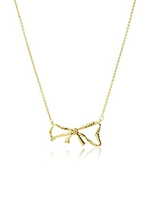 Tai 18K Gold-Plated Hammered Bow Necklace