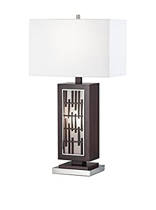 Nova Lighting Belview Table Lamp, Dark Brown