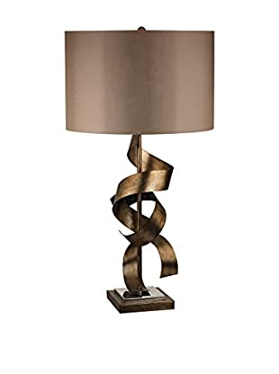 Artistic Lighting Metal Sculpture Table Lamp, Roxford Gold
