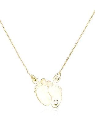 Cordoba Jewels Collar plata de ley 925 milésimas bañada en oro