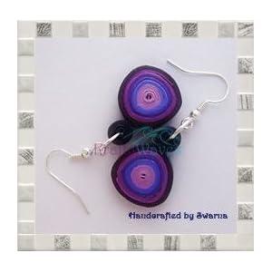 Krafty Waves Paper quilled Earrings - Shades of Purple
