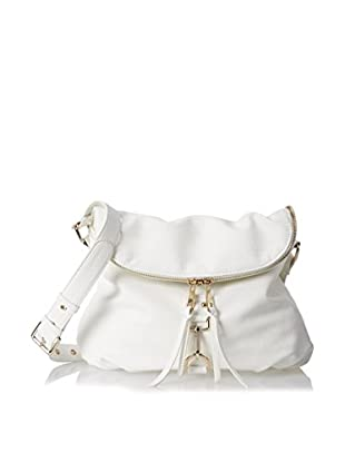 POVERTY FLATS by rian Women's Tunnel Flap Crossbody, White