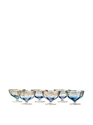 A Casa K Melodia Set of 6 Engraved Crystal 8.5-Oz. Dessert Bowls