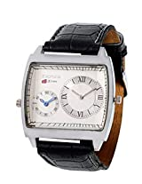Exotica White Dial Analogue Watch for Men (EX-44 DUAL-W)