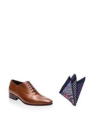 Ortiz & Reed Zapatos Oxford + Pañuelo de bolsillo SET-ZCP-PO5