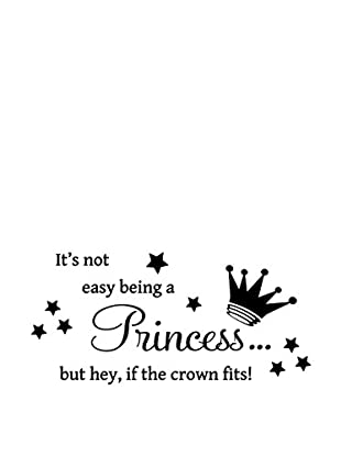 Ambiance Live Wandtattoo Crown and Princess x15 Swarovski Elements® schwarz