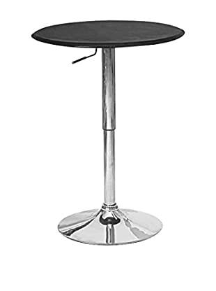 Manhattan Comfort Circle Steegie Bar Table, Black