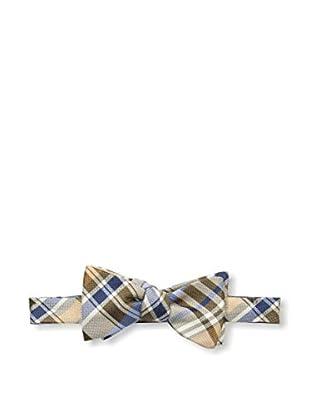 Bruno Piattelli Men's Plaid Bow Tie, Taupe
