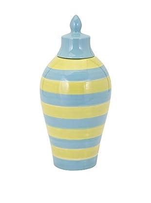 Small Savannah Blue/Yellow Striped Vase