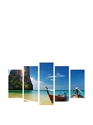 LO+DEMODA Leinwandbild 5 tlg. Set Sea Boat Paradise
