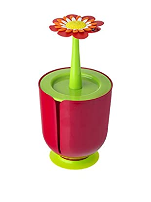 VIGAR Portarollos Baño Flower Power Rojo / Verde