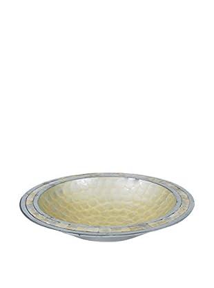 Bethel International Aluminum & Shell Inlay Bowl