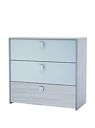 13 Casa Kommode Easy grau/himmelblau 78x83x39,6 cm