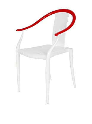 Stilnovo Ming Ghost Chair, Clear/Red