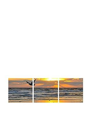 LO+DEMODA Set Lienzo 3 Uds. Bird In The Beach