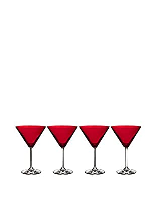 Waterford Marquis Vintage Set of 4 Red Martini Glasses