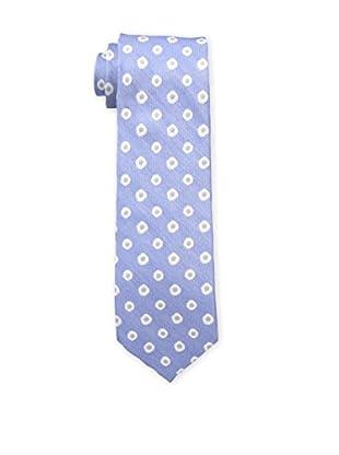 Bruno Piattelli Men's Flower Neat Silk Tie, Blue