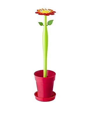 VIGAR Escobilla Baño Flower Power Rojo / Verde