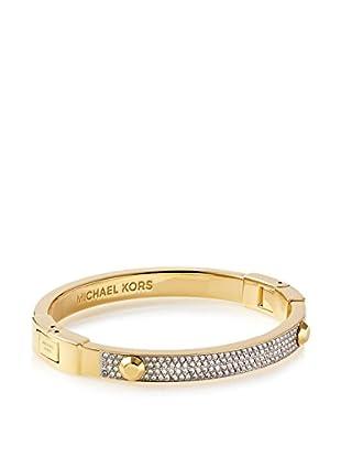 Michael Kors Gold-Tone Crystal Pavé Astor Stud Bangle Bracelet