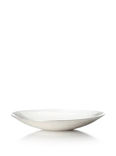 Badash Crystal Glamour Oval Alabaster Plate (White)