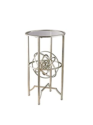 Artistic Lighting Armillary Sphere Accent Table, Aged Silver/Antique Finish