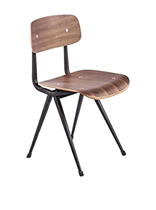 Control Brand Warnitz Side Chair, Walnut/Matte Black