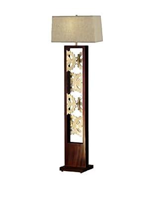 Nova Gear Floor Lamp, Root Beer/Bronze