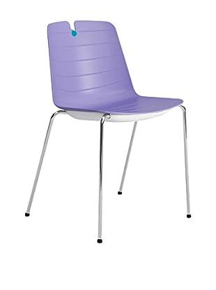 CONTRAST Stuhl 2er Set Mindy flieder/blau