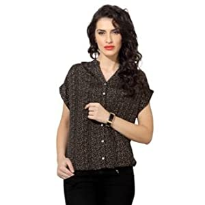 Beige Colour Printed stylish Blouse for Women