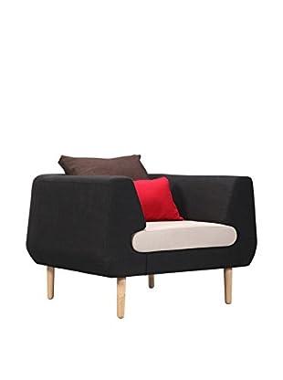 International Designs USA Dream Accent Chair, Black