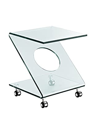 Modway Z Side Table, Clear