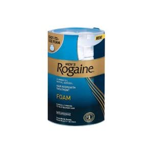 Rogaine Mens Regrowth Foam 5% Unscented 3 Month [Personal Care]