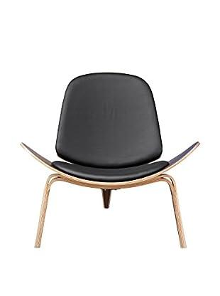 Manhattan Living Shell Chair, Black