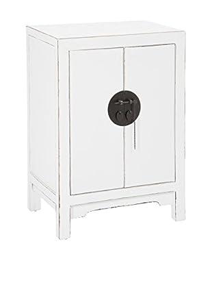J-LINE Nachttisch weiß 58x40x81 cm