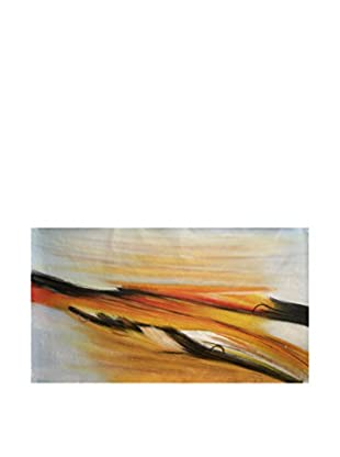 LegendArte Pintura al Óleo sobre Linezo Colata Di Fuoco 50X100