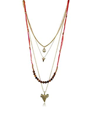 Ettika Tiger's Eye & Coral Just A Few Things Layered Necklace