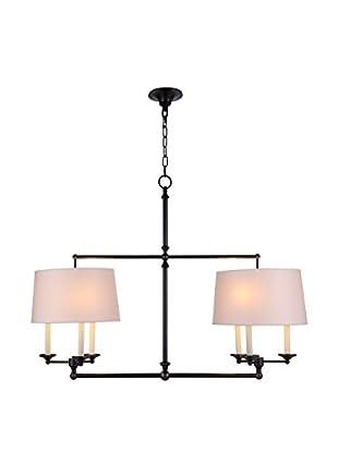 Urban Lights Crawford 6-Light Pendant Lamp, Bronze