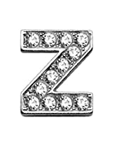 Mirage Pet Products Clear Bling Sliding Collar Charms, 3/8-Inch, Letter Z