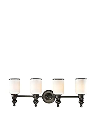 Artistic Lighting Bristol Collection 4-Light LED Bath Bar, Oil Rubbed Bronze