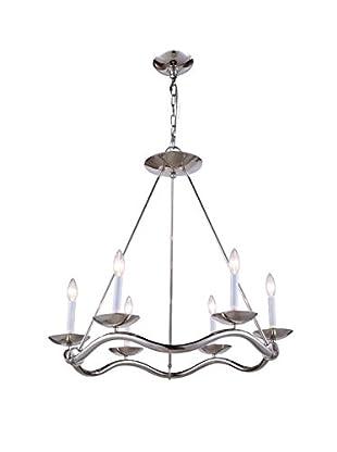 Urban Lights Perry 6-Light Pendant Lamp, Polished Nickel