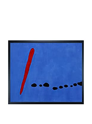 Joan Miro Bleu II Framed Hand-Painted Reproduction