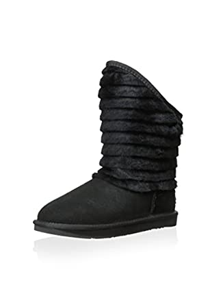 Australia Luxe Collective Womens Shogun Fur Trimmed Shearling Boot (Black)