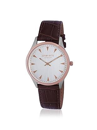 Johan Eric Men's JE9000-12-001 Helsingor Brown/Silver Leather Watch