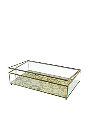 Jay Imports Circles Glass Display Box, Gold