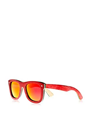 Earth Wood Sunglasses Gafas de Sol Wood Malibu (52 mm) Rojo
