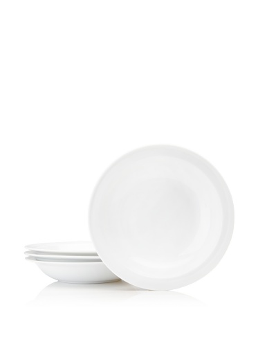 BergHOFF Set Of 4 Hotel Line Soup Bowls, White, 8.5''