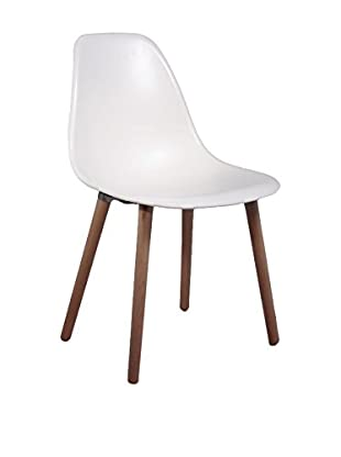 LO+DEMODA Set Silla 2 Uds. Simple Tower Wood Blanco