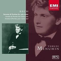 輸入盤 1930年代メニューイン演奏 バッハ 無伴奏ヴァイオリンのためのソナタとパルティータの商品写真